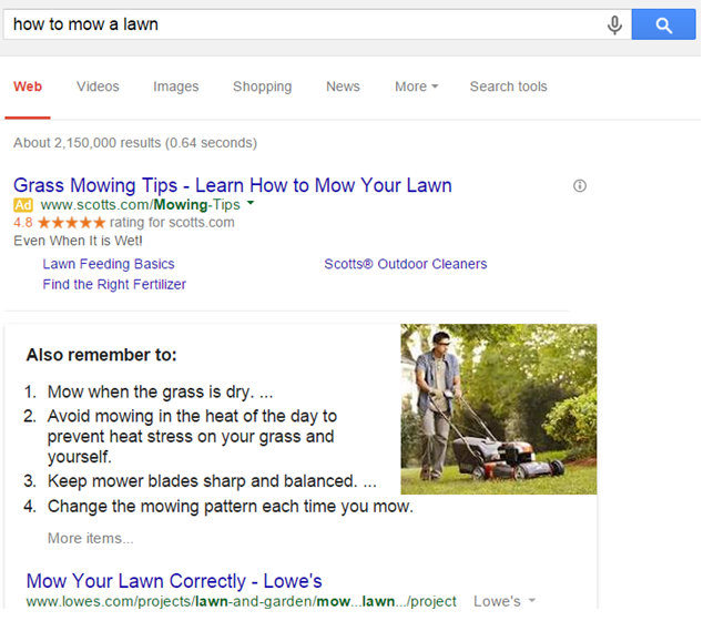 How to mow a lawn image
